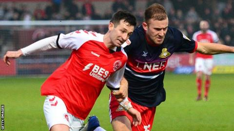 Jason Holt (left) in Fleetwood Town colours