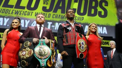 Saul 'Canelo' Alvarez and Daniel Jacobs
