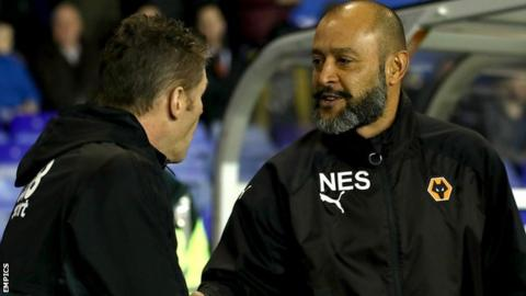 "Birmingham boss Steve Cotterill rated Nuno's Championship leaders Wolves as ""average"" in Tuesday's 1-0 home defeat at St Andrew's"