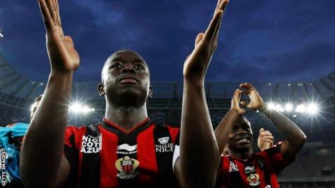 Nampalys Mendy celebrates with Nice