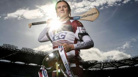 Slaughtneil joint-captain Siobhan Bradley is aiming to lift the Bill & Agnes Carroll Cup on Sunday