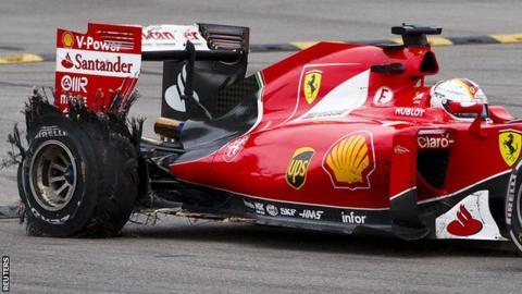 Sebastian Vettel tyre
