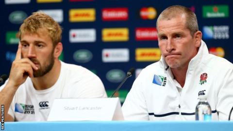 Former England captain Chris Robshaw and head coach Stuart Lancaster