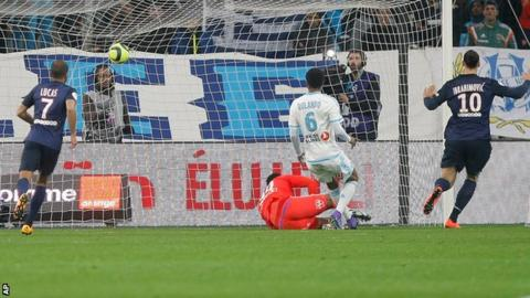 Zlatan Ibrahimovic scores for Paris St-Germain
