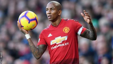 Manchester United defender Ashley Young