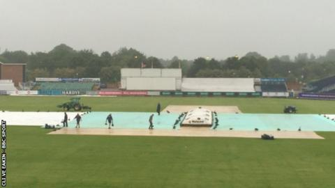 The ground staff were the hardest worked at Chester-le-Street as all but eight overs were washed out on day three of the Durham-Warwickshire Championship game