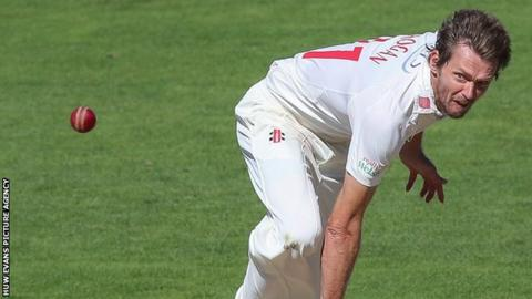 Michael Hogan in action for Glamorgan