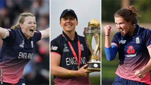 Three England women earn Wisden recognition
