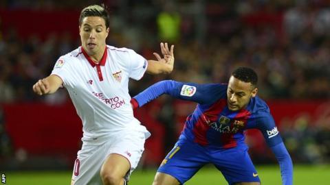 Samir Nasri playing for Sevilla