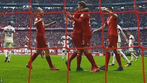 Bayern Munich scored four times in the first half against Stuttgart