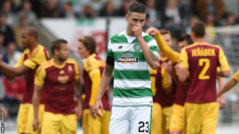 Celtic had problems in defence during their friendly loss to Dukla Prague