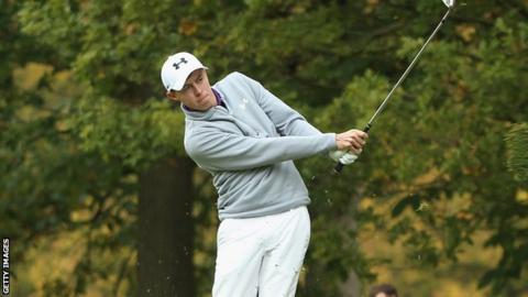 Matthew Fitzpatrick in third-round action