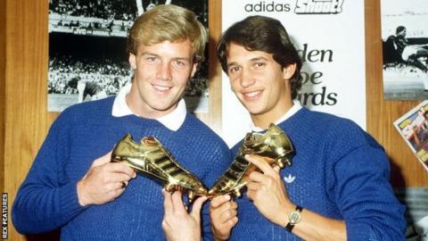 Kerry Dixon (left) and Gary Lineker