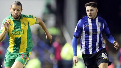Matt Penney (right) in action for Sheffield Wednesday