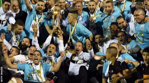 Entente Setif celebrate winning 2014 Afircan Champions League