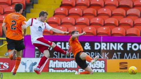 Liam Watt scored the clincher as East Fife won 2-0 at Dundee United in the group phase