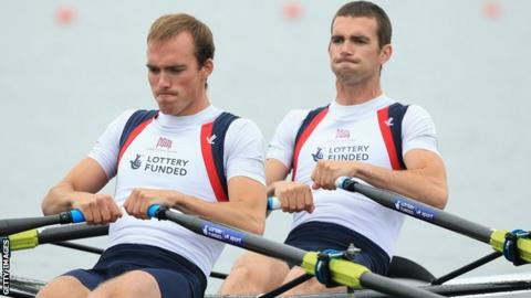 Peter and Richard Chambers also competed together in the lightweight men's double sculls