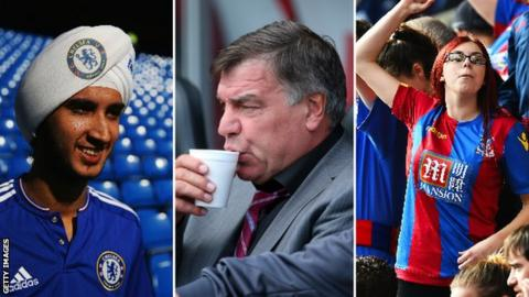 Chelsea, Crystal Palace fans and Sam Allardyce