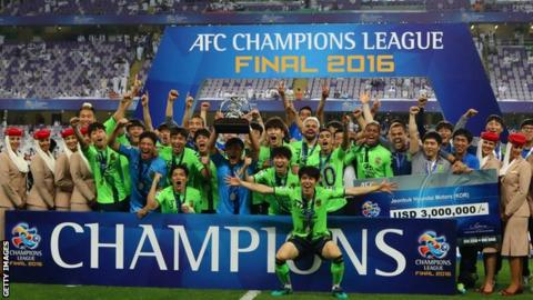 Jeonbuk Hyundai Motors beat Al Ain to win the 2016 Asian Champions League
