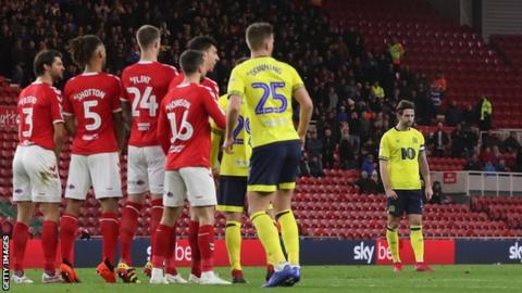 Charlie Mulgrew lines up the free-kick which puts Blackburn in front