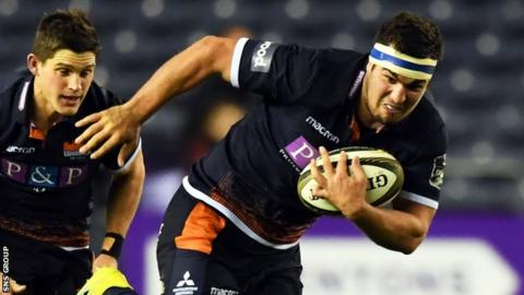 Scotland hooker Stuart McInally in action for Edinburgh