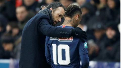 Paris St-Germain striker Neymar