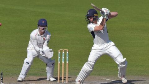 Lancashire wicketkeeper Dane Vilas was a mere spectator as Martin Andersson added to his maiden half-century with a flowing cover drive off the back foot