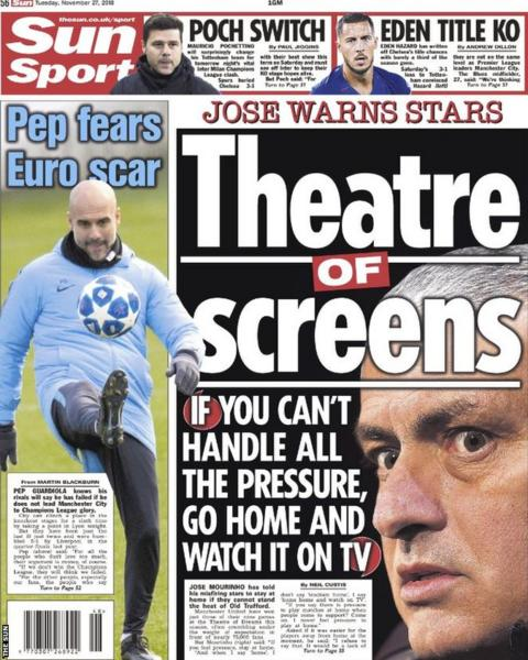 Back page of Tuesday's Sun