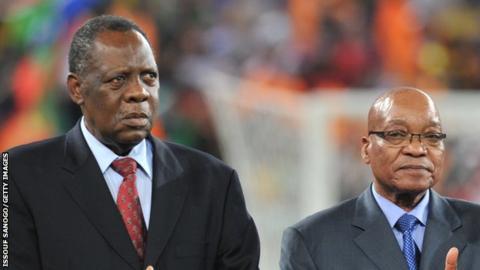 Issa Hayatou and Jacob Zuma