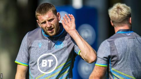 Finn Russell Finn Russell in training with Scotland