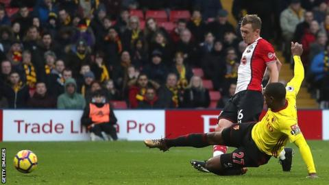 James Ward-Prowse scores against Watford
