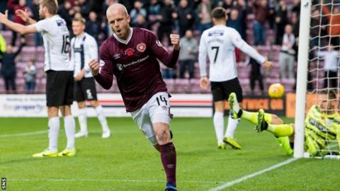 Hearts haven't won a league match at Tynecastle since beating St Mirren 5-2 on 9 November
