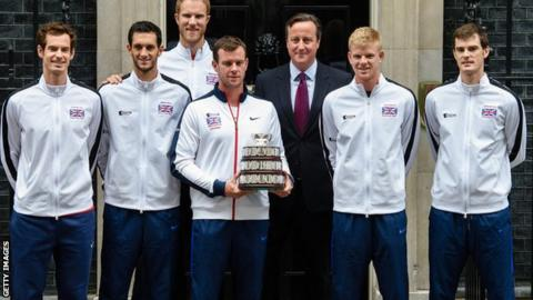 Great Britain Davis Cup squad visits 10 Downing Street