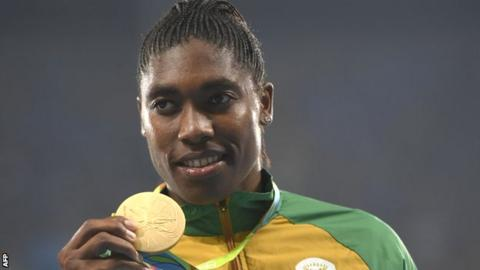 Semenya has won the Olympic 800m title twice and the world title three times
