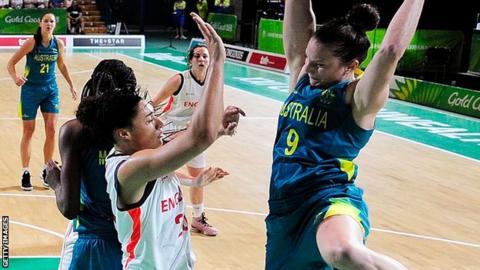 England women play Australia