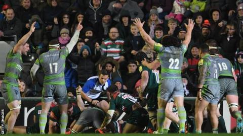 1986364ef Premiership  Leicester Tigers 23-25 Newcastle Falcons - BBC Sport