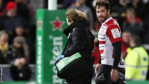 Danny Cipriani suffered his injury in Saturday's 29-6 European Champions Cup win over Montpellier at Kingsholm