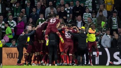 Celtic conceded four goals in Glasgow to go out of the Champions League at the hands of Cluj
