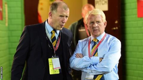 Stewart Regan and Gordon Strachan