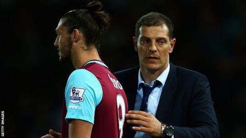 Andy Carroll and Slaven Bilic