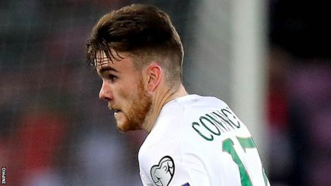 Connolly made his Republic debut in the 0-0 draw with Georgia in October