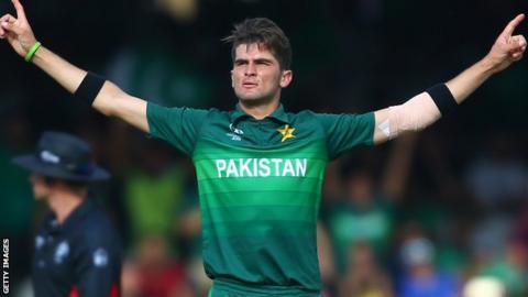 Pakistan seam bowler Shaheen Afridi