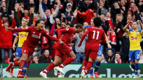 Premier league liverpool and man city cruise to wins man - Bbc football league 1 table ...