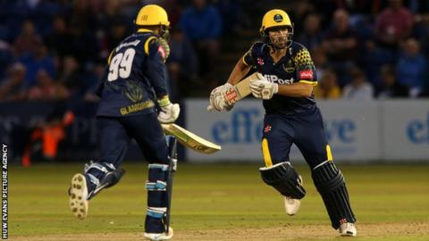 Joe Burns made his Glamorgan debut in the T20 defeat to Somerset
