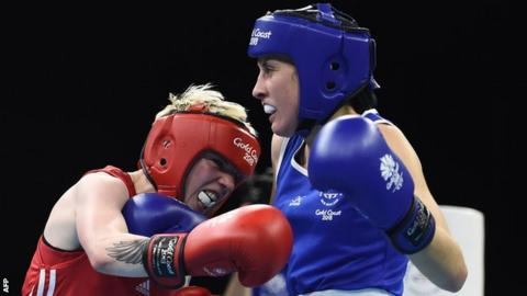 Kristina O'Hara in action against New Zealand's Tasmyn Benny on Wednesday