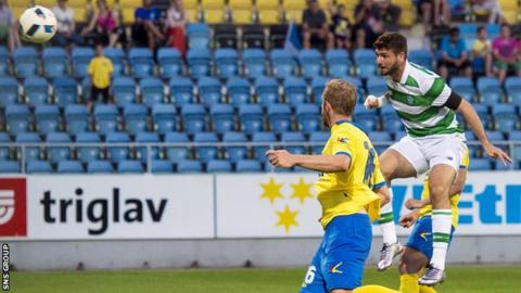 Nadir Ciftci scores for Celtic in Slovenia