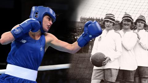 Boxer Katie Taylor and women's football team Dick Kerr's Ladies