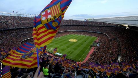 Nou Camp from above