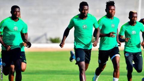 Nigeria team training