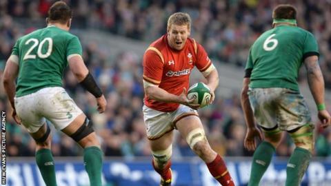 Bradley Davies in action against Ireland